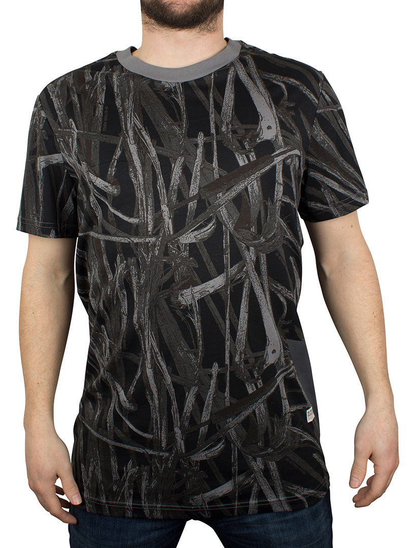 gstar platinum ao studam all over branch print tshirt