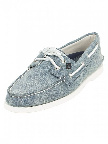 Sperry Top-Sider Navy A/0 2-Eye Canvas Boat Shoes