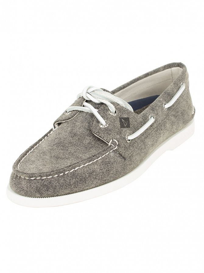 Sperry Top-Sider Grey A/0 2-Eye Canvas Boat Shoes
