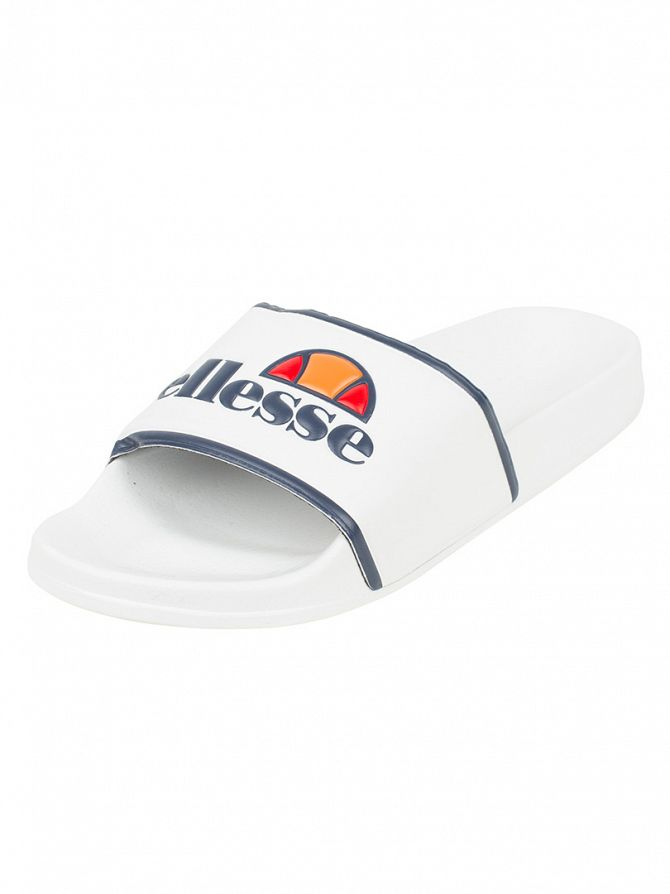 Ellesse White/Navy Fillipo Logo Slider Flip Flops