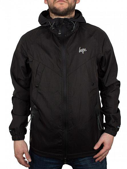 Hype Black Logo Zip Script Jacket