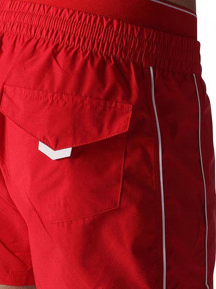 Diesel Red Stripe Inner Logo Waistband Swim Shorts