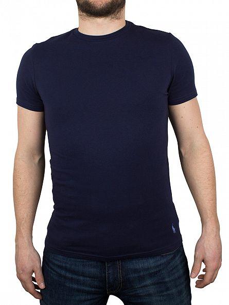 Polo Ralph Lauren Navy/Light Grey Marl 2 Pack Stretch Cotton T-Shirts