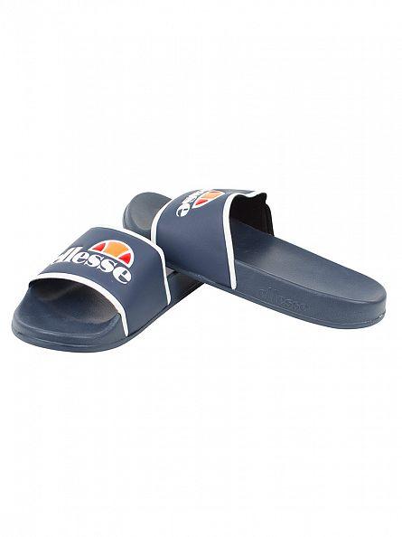 Ellesse Navy/White Fillipo Logo Slider Flip Flops