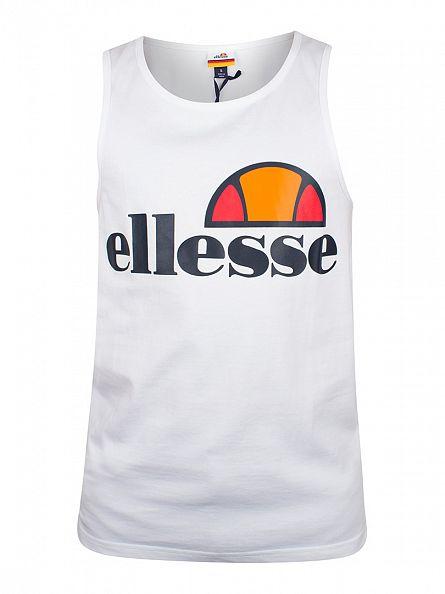 Ellesse Optic White Datura Large Logo Vest