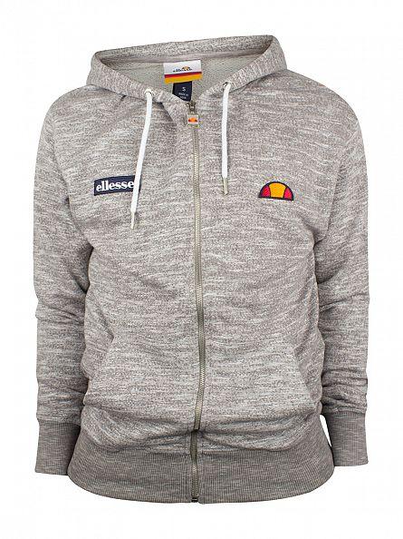 Ellesse Grey Marl Treia FZ Zip Logo Hoodie