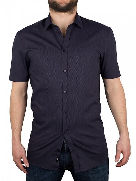 Minimum Navy Blazer Macon Shortsleeved Shirt