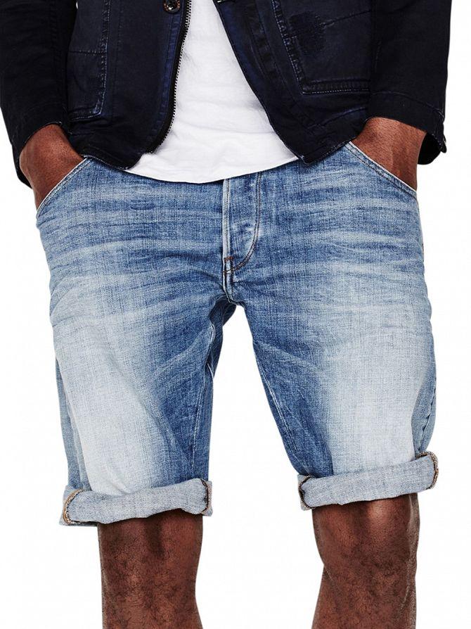 G-Star Light Aged ARC 3D Tapered 1/2 Denim Shorts