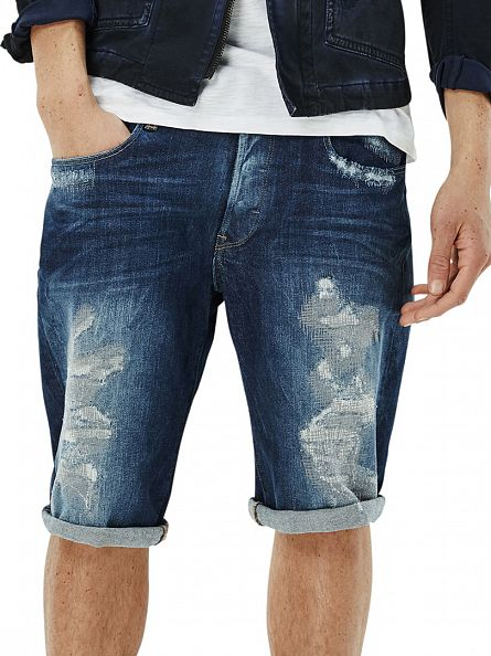 G-Star Medium Aged Restored 3301 Tapered Denim Shorts
