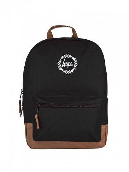 Hype Black/Tan Mini Backpack