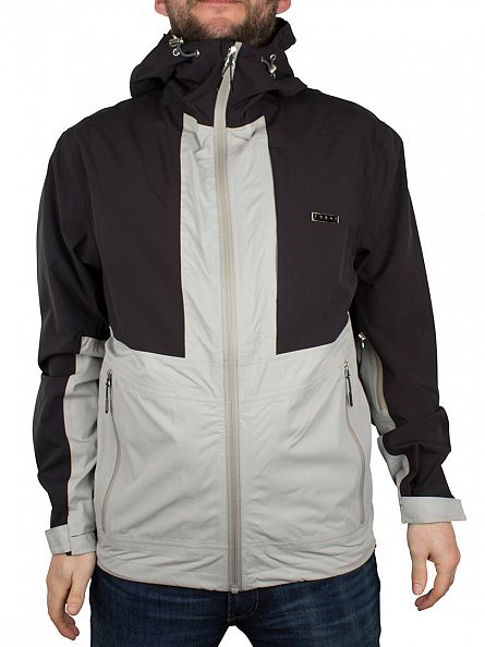 Foray Black Guide Panel Zip Logo Jacket