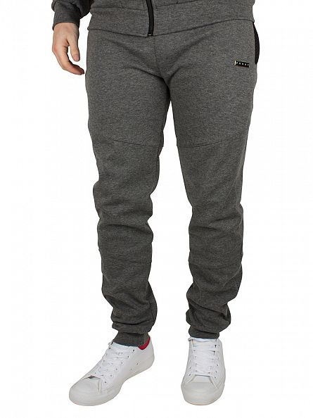 Foray Charcoal Flash Mesh Logo Joggers