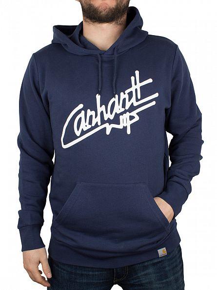 Carhartt WIP Blue/White Locals Graphic Hoodie