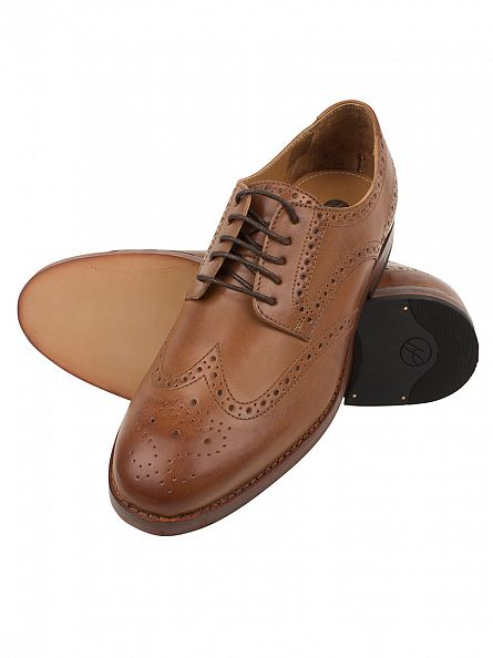H by Hudson Tan Talbot Calf Shoes