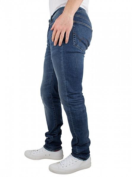 Edwin Mid Trip Used Blue ED-75 Mid Rise Tapered Jeans