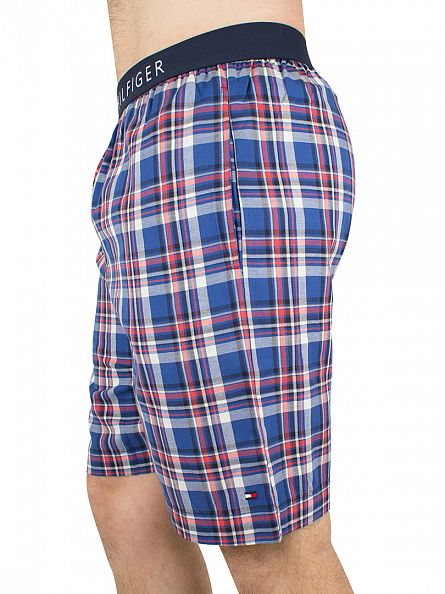 Tommy Hilfiger Limoges Icon Check Logo Waistband Woven Pyjama Shorts