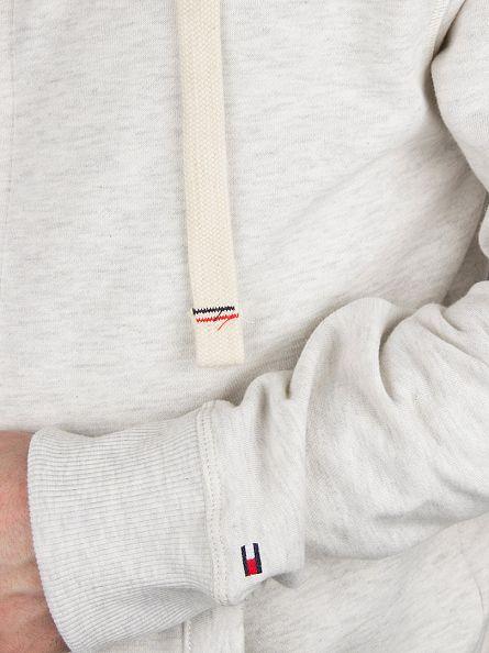 Tommy Hilfiger Ivory Heather Sinne Zip Logo Hoodie