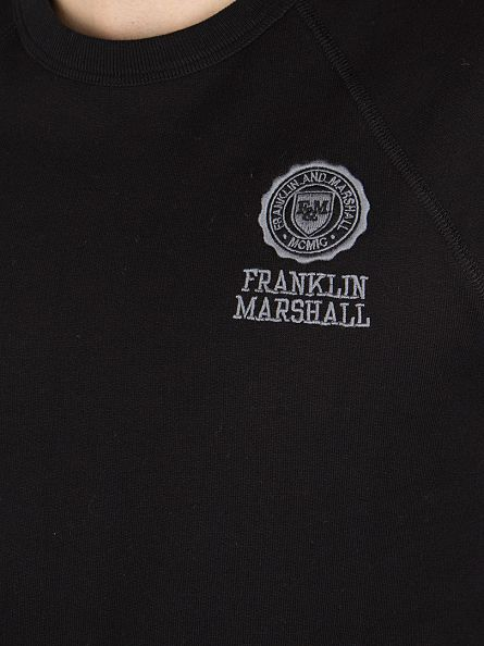 Franklin & Marshall Black Left Chest Logo Sweatshirt