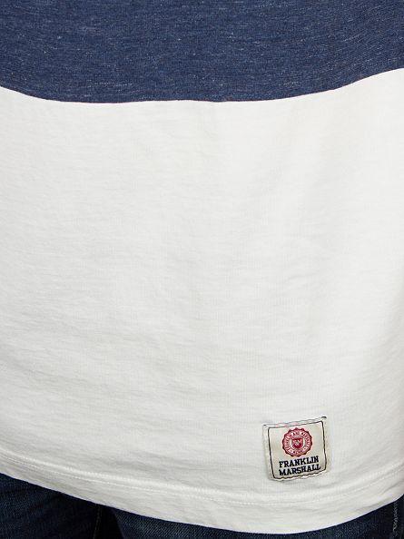 Franklin & Marshall Original Blue 3 Panel T-Shirt