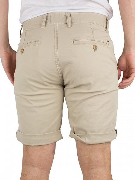 Hilfiger Denim Plaza Taupe Freddy Straight Logo Chino Shorts