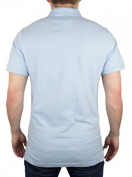 Hilfiger Denim Cashmere Blue Tipped Basic Flag Logo Polo Shirt
