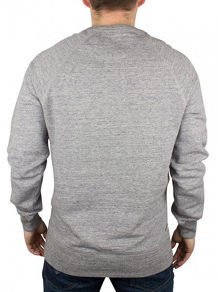 Franklin & Marshall Sport Grey Melange Left Chest Logo Sweatshirt
