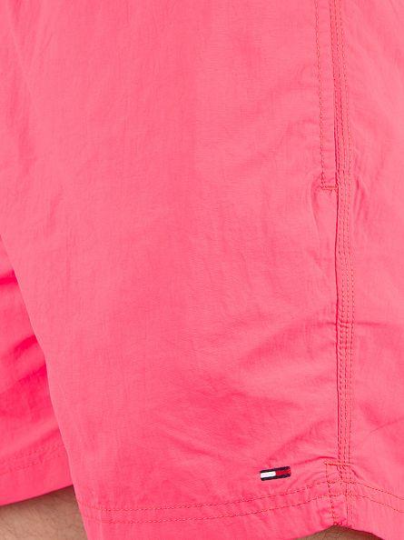 Hilfiger Denim Diva Pink Solid Logo Swim Shorts