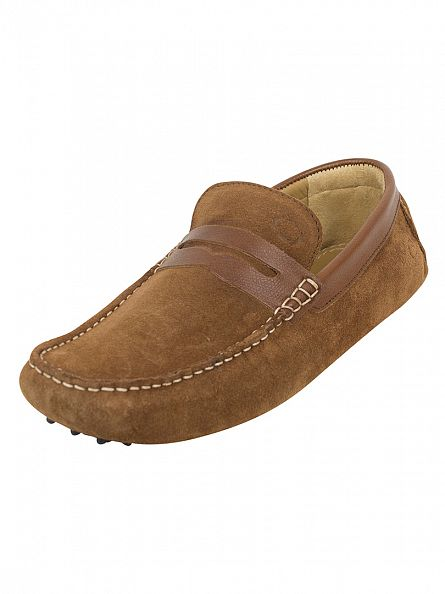Base London Tabacco Morgan Suede Loafers