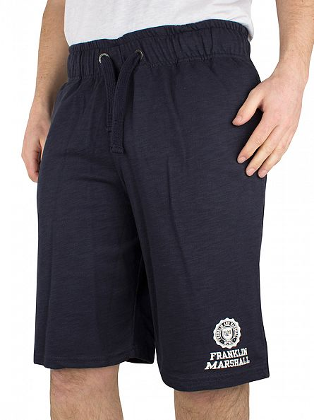Franklin & Marshall Navy Logo Sweat Shorts