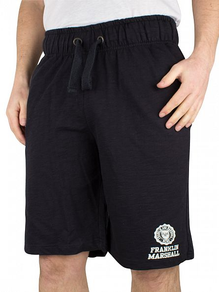 Franklin & Marshall Black Logo Sweat Shorts