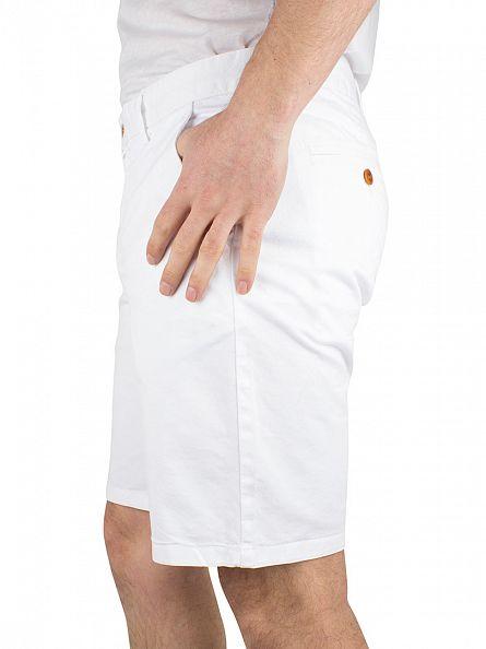 Gant White Regular Comfort Chino Shorts