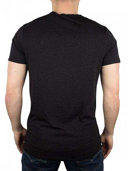Scotch & Soda Black Ausbrenner Rock Graphic T-Shirt