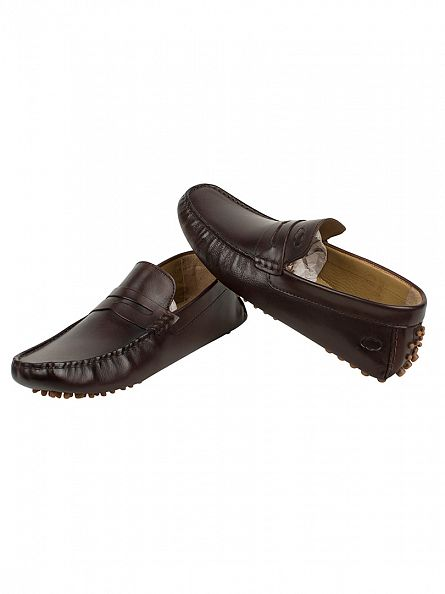 Base London Brown Morgan Washed Loafers