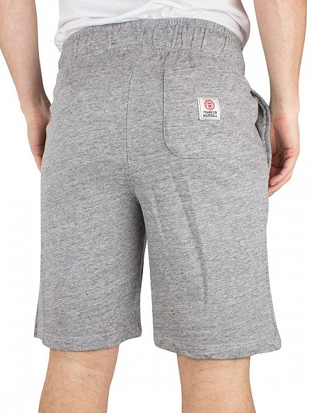 Franklin & Marshall Sport Grey Melange Logo Marled Sweat Shorts