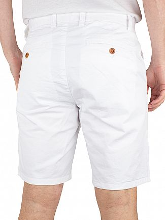 Gant White Regular Comfort Chino Shorts
