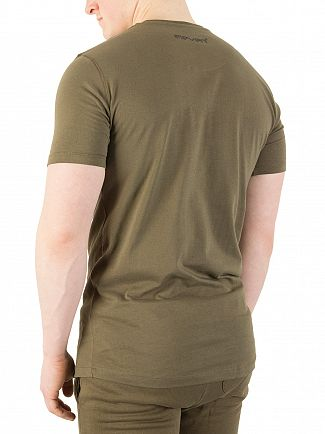 11 Degrees Khaki Core Logo T-Shirt