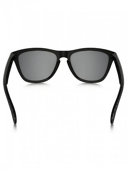 Oakley Matte Black/Chrome Iridium Frogskins Sunglasses