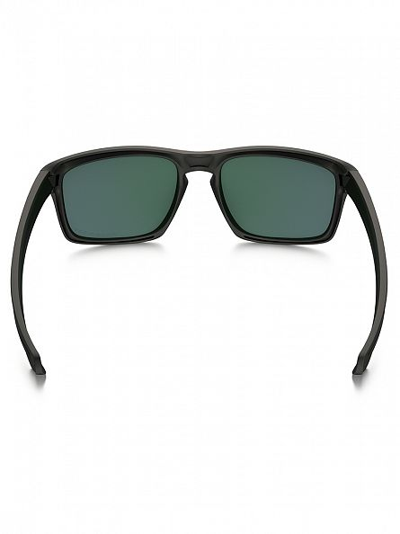 Oakley Matte Black/Violet Iridium Polarized Silver Polarized Sunglasses