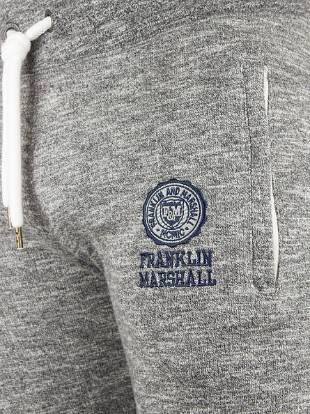 Franklin & Marshall Sport Grey Melange Logo Marled Joggers