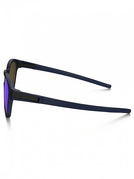 Oakley Matte Translucent Blue/Sapphire Iridium Latch Man Sunglasses