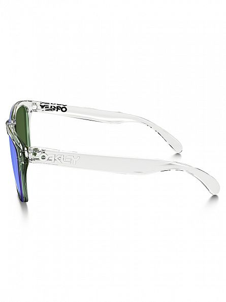 Oakley Polished Clear/Violet Iridium Frogskins Sunglasses