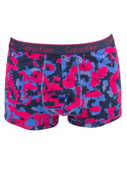 Calvin Klein Deep Pink CK One Block Camo Print Trunks