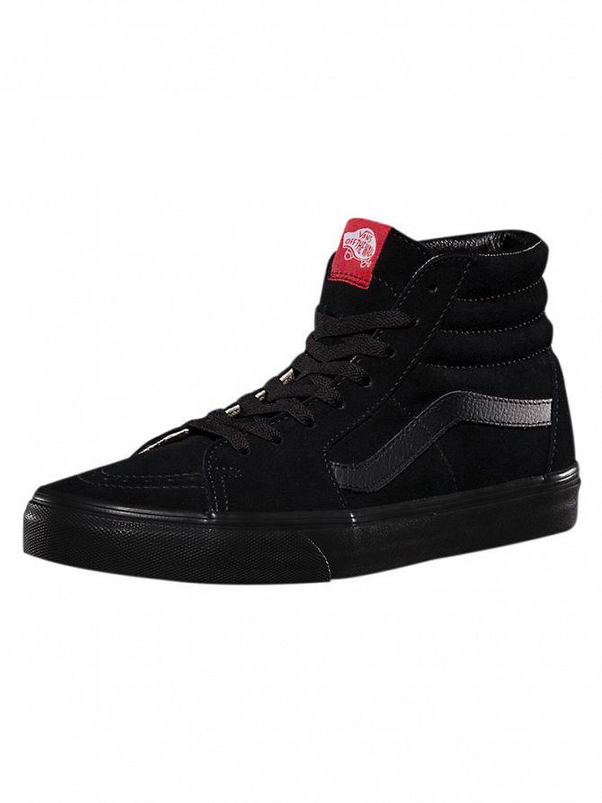Vans Black/Black Sk8-Hi Trainers