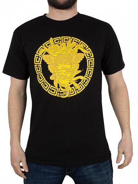 Crooks & Castles Black Metal Medusa Graphic T-Shirt