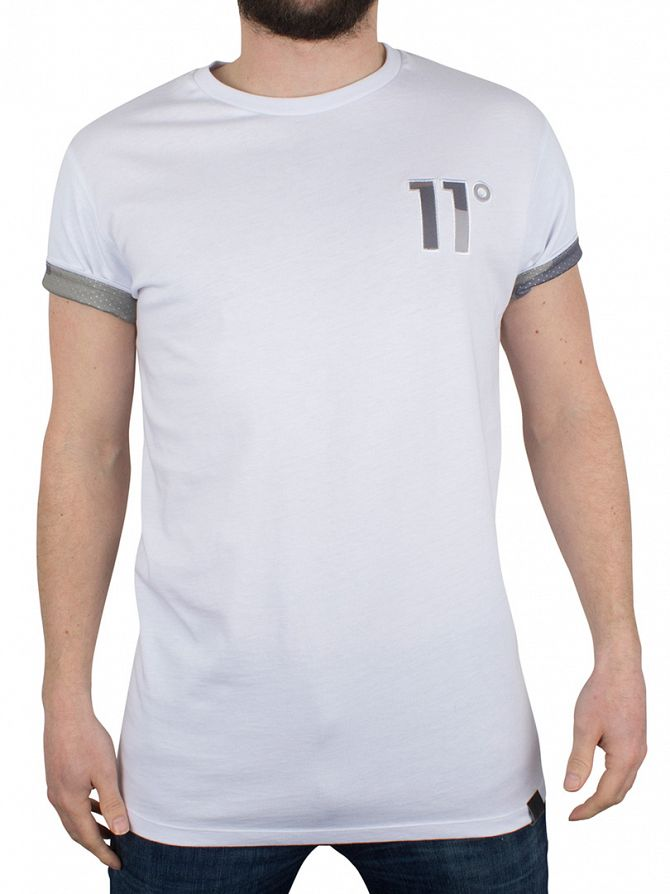 11 Degrees White Camo Logo T-Shirt