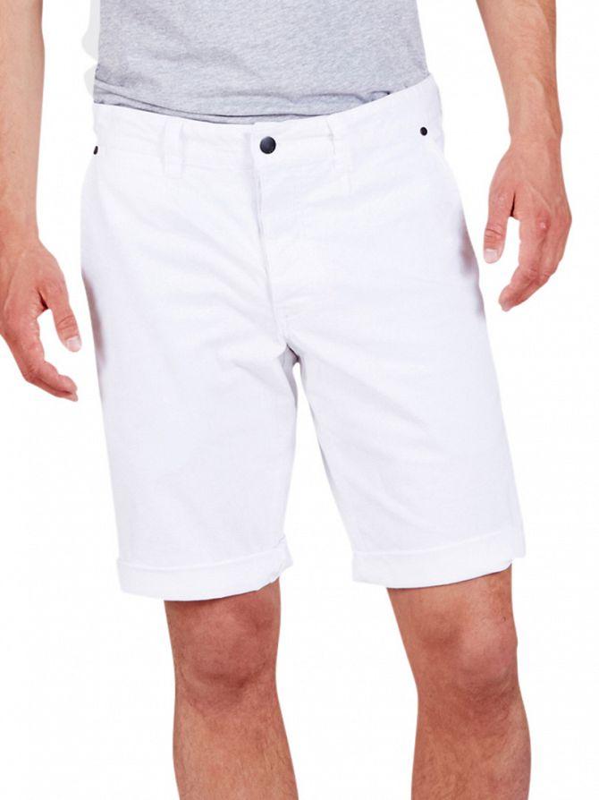 Minimum White Frede Chino Shorts