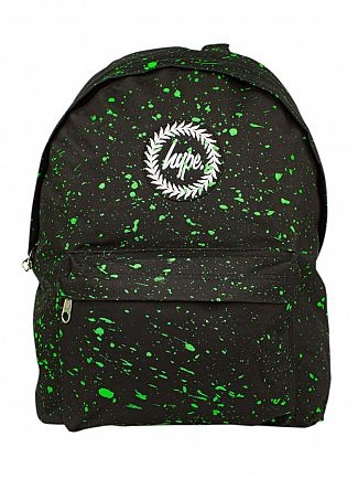 Hype Black/Neon Green Speckle Backpack