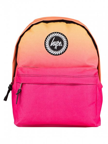Hype Orange/Pink Fade Gradient Logo Backpack