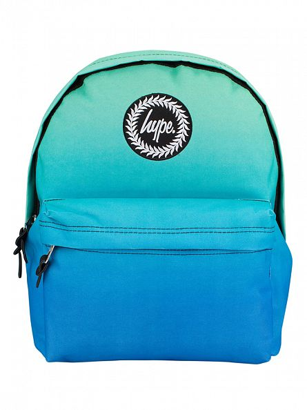 Hype Green/Blue Fade Gradient Logo Backpack