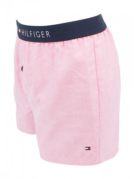 Tommy Hilfiger Sea Pink Icon Woven Oxford Boxer Trunks